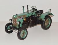 Blechtraktor Nostalgie Modellauto Oldtimer Marke Steyr Daimler Puch Traktor Modell aus Blech L 33 cm