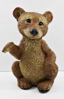Dekofigur Tierfigur Bärfigur Bär stehend winkend Kollektion Castagna Sammlerfigur aus Resin H 24 cm