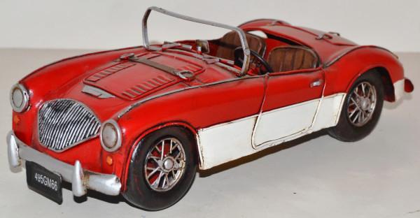 Blechauto Nostalgie Modellauto Oldtimer Austin Healey Cabrio Sportwagen aus Blech L 28 cm