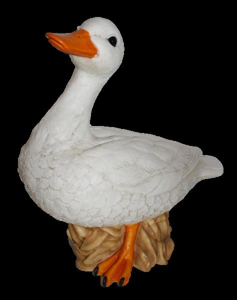 Deko Figur Gans Tierfigur weiße Gänsefigur Gänsemutter Vogel Kollektion Castagna aus Resin H 37 cm