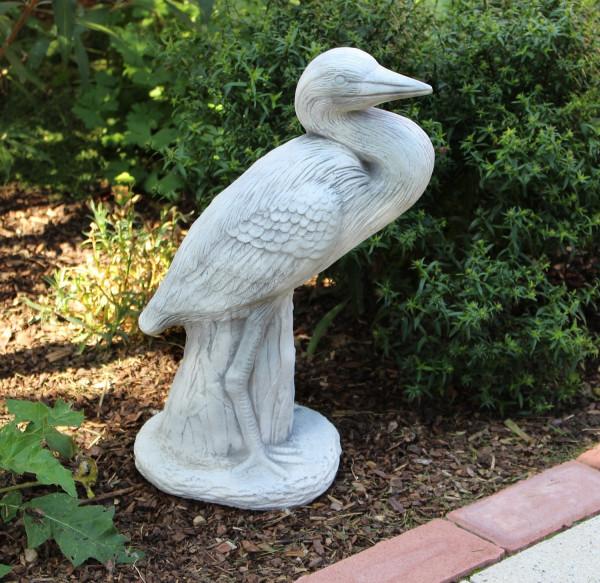 Beton Figur Kranich Fischreiher Vogel Reiher H 47 cm Dekofigur, Tierfigur und Gartenfigur aus Beton