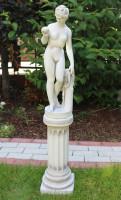 Beton Figur Skulptur Venus von Canova auf ionische Säule H 106 cm Dekofigur Statue Gartenskulptur