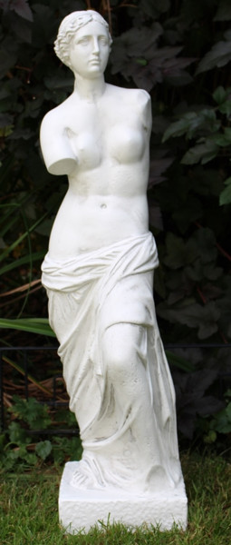 Deko Figur Statue Venus von Milo H 88 cm aus Kunststoff klassische Gartenskulptur Dekofigur