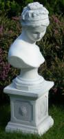 Beton Figuren Statue Büste Venus von Canova auf klassischer Säule H 72 cm Satz Dekofiguren und Gart