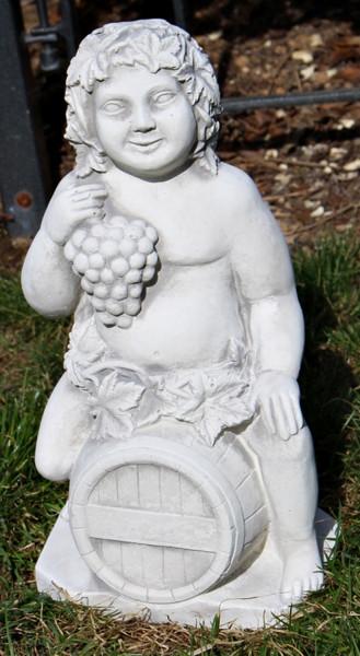 Beton Figur Bacchus Gott des Weines H 34 cm Deko Skulptur und Gartenfigur