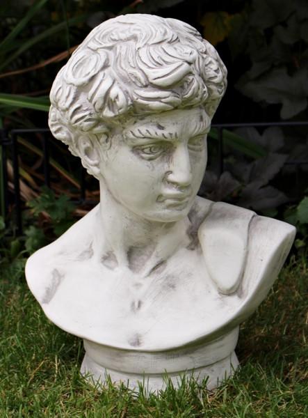 Deko Figur Statue David von Michelangelo Büste H 44 cm klassische Skulptur Dekofigur aus Kunststoff