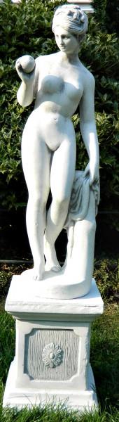 Beton Figuren Statue Venus von Canova auf klassischer Säule H 87 cm Dekofiguren Gartenskulpturen