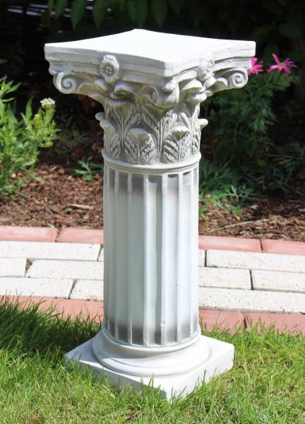 Beton Figur Skulptur korinthische Säule H 45 cm antiker Stil Sockel Dekofigur und Gartenskulptur