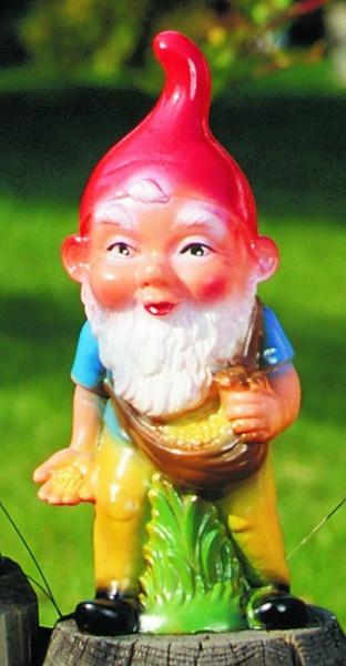 Gartenzwerg Sämann Figur Zwerg H 22 cm Gartenfigur aus Kunststoff
