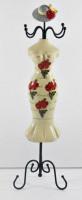 Schmuckbüste Beauty Figur Deko Modefigur Nostalgiefigur weißer Torso mit roten Blumen H 35 cm