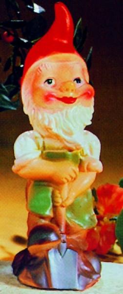 Gartenzwerg mit Spaten Figur Zwerg H 20 cm Gartenfigur aus Kunststoff
