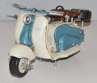 Blechmodell Roller Nostalgie Modellauto Oldtimer Marke Lambretta Motorroller Modell aus Blech L 24cm