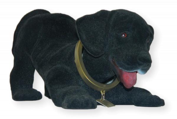 Wackel Figur Hund Labrador schwarz Wackelfigur H 13 cm groß Dekofigur mit Wackelkopf