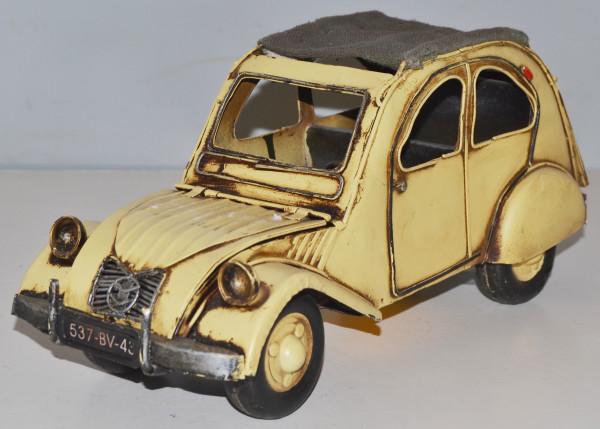 Blechauto Nostalgie Modellauto Oldtimer Citroen 2CV Ente aus Blech L 28 cm