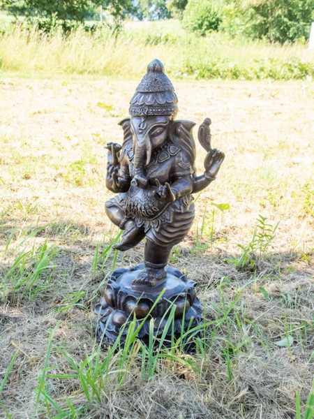 Bronzefigur Bronzeskulptur Bronze Ganesha H 70 cm Indischer Gott Hinduismus Figur Skulptur