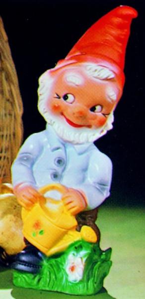 Gartenzwerg mit Gießkanne Figur Zwerg H 32 cm Gartenfigur aus Kunststoff