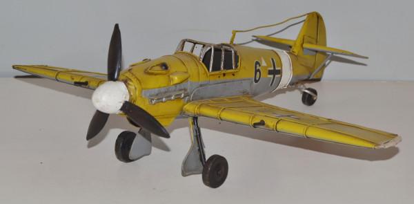 Blechflugzeug Nostalgie Modellflugzeug Oldtimer Marke Messerschmitt ME BF 109 aus Blech L 41 cm