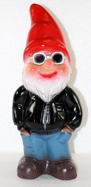 Deko Figur lustiger Zwerg H 34 cm Spaß Gartenzwerg mit Brille Gartendeko Gartenfigur aus Kunststoff