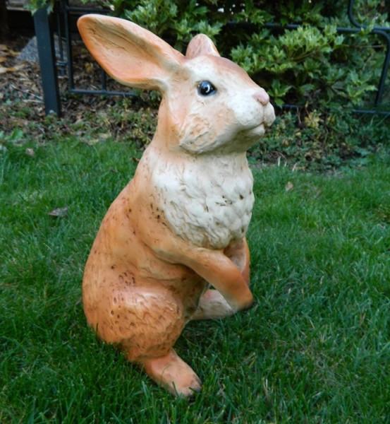 Dekorationsfigur Hase Höhe 35 cm Gartenfigur aus Kunstharz