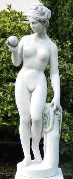 Beton Figur Statue Skulptur Venus von Canova mit Apfel H 59 cm Dekofigur und Gartenskulptur