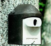 Naturschutzprodukt Nisthöhle Typ 2GR oval Flugloch 30 x 45 mm