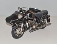 Blechmotorrad Nostalgie Modellauto Oldtimer Marke BMW R 60/2 Beiwagen Motorrad aus Blech L 29 cm