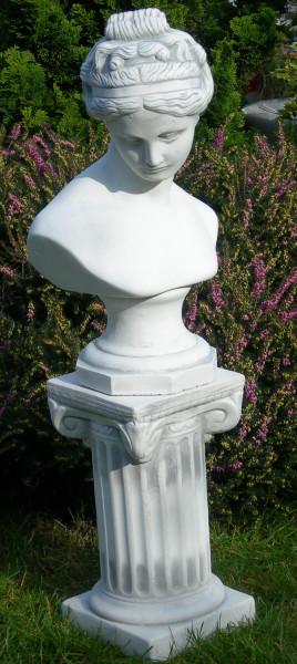 Beton Figuren Statue Büste Venus von Canova auf ionischer Säule H 77 cm Satz Dekofiguren und Garten