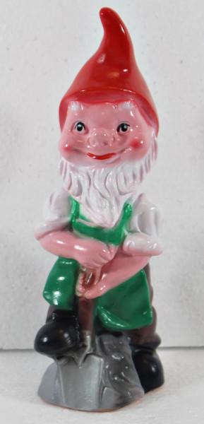 Gartenzwerg Figur Zwerg mit Spaten H 20 cm stehend Gartenfigur aus Kunststoff