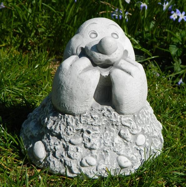 Beton Figur Maulwurfskopf H 15 cm Dekofigur und Gartenfigur