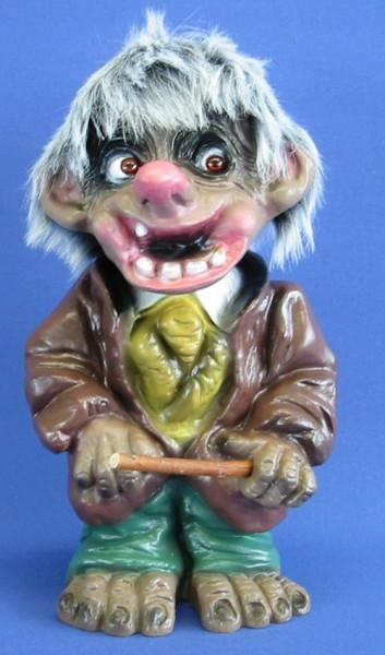 Souvenir Wackel Figur Klau Bruder klein H 18 cm Wackelfigur Dieb Original mit Wackelkopf