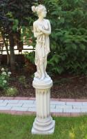 Beton Figur Skulptur Paolina von Canova auf ionische Säule H 107 cm Dekofigur Statue Gartenskulptur