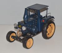 Blechtraktor Nostalgie Modellauto Oldtimer Marke Lanz Bulldog Traktor Modell aus Blech L 25 cm