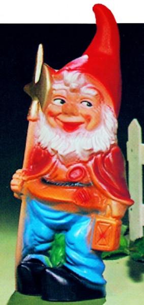 Gartenzwerg als Nachtwächter Figur Zwerg H 30 cm Gartenfigur aus Kunststoff