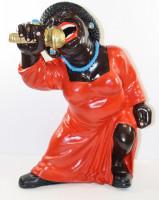Deko Figur Musikerin Figur Sängerin H 43 cm Dekofigur Band Musikerin mit Mikrophon aus Kunstharz