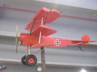 Blechflugzeug Nostalgie Modellflugzeug Oldtimer Marke Fokker Roter Baron Flugzeug aus Blech L 205 cm