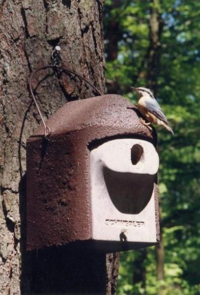 Naturschutzprodukt Nisthöhle Typ 2GR oval Flugloch 30 x 45 mm Artenschutz Produkt