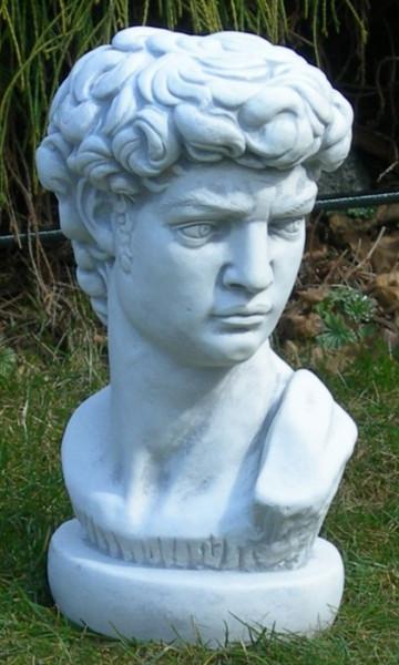 Beton Figur Statue Büste David von Michelangelo H 35 cm Dekofigur und Gartenskulptur