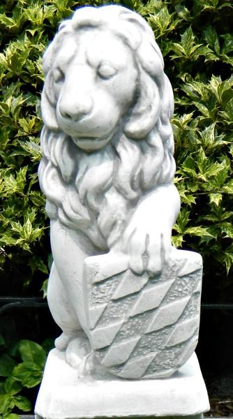 Beton Figur Löwe Wappen links H 39 cm Dekofigur und Gartenskulptur