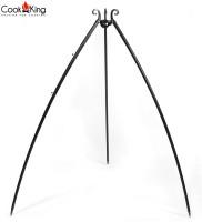 Dreibein Gestell H 200 cm aus Naturstahl Grill Tripod Grillständer Schwenkgrill