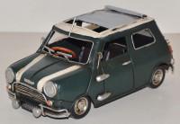 Blechauto Nostalgie Modellauto Oldtimer Mini Cooper 1960er Jahre aus Blech L 21 cm