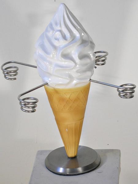 Eiswaffelhalter Eistüte drehbar für Eisdiele mit 4 Eishalterungen Eishörnchenhalter Höhe 33 cm