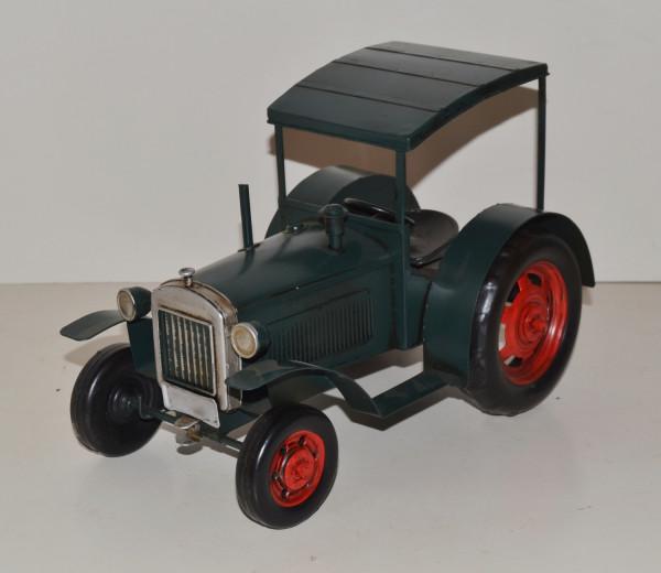Blechtraktor Nostalgie Modellauto Oldtimer Marke Hanomag Traktor Modell R40 aus Blech L 28 cm