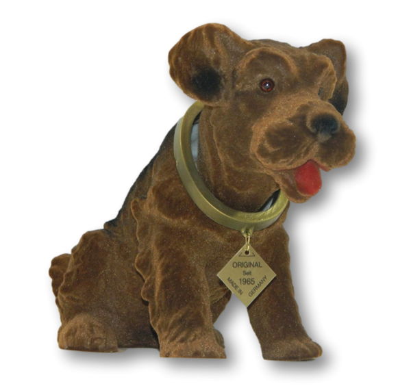 Wackel Figur Hund Airedale Wackelfigur H 20,5 cm groß Dekofigur mit Wackelkopf